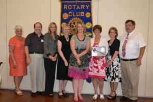 Newly installed DRC Officers (l to r) Pete Clark, Gail Goossens, LouAnn Jendro, Kate Dame, Kathy Boyd, Sue Neary and Chuck Moran.