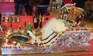 The Salvo family took 1st place in the Children's Division at DRC's Annual Gingerbread Competition.